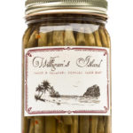 Single Jar of Willigan's Island Garlic Jalapeno Pickled Green Beans.